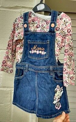 minnie mouse denim dress and matching top 3-4 years