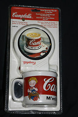 NEW Campbell's Soup & Beverage Warmer Mug Set SEALED - MW-4C