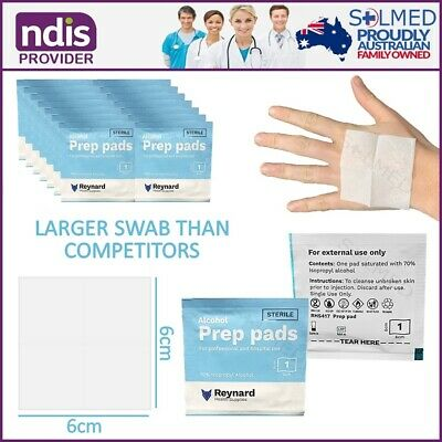 100 Units Alcohol Wipes Maxi Swabs Skin Cleansing Skin Cleansing Wipe 70% Ipa
