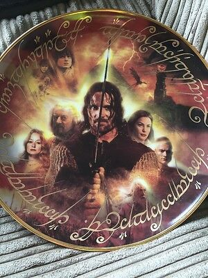 "Danbury Mint Lord of the Rings The Return of the King Large 12"" Collectors Plate"