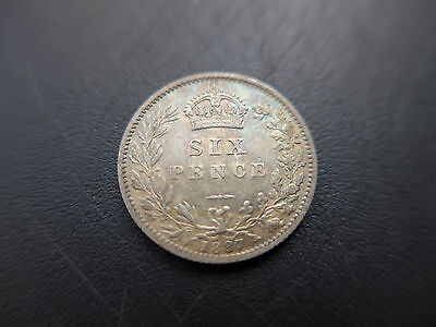 1887  Queen Victoria  Sixpence