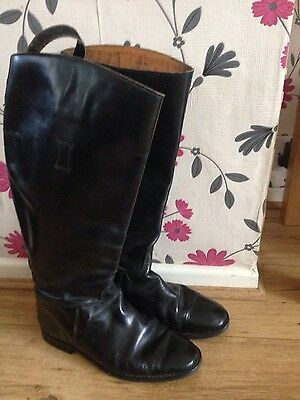 Long Leather Riding Boots Size 7.5