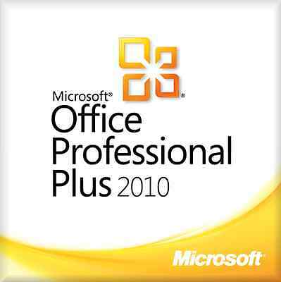 Microsoft Office 2010 Professional Plus Software Full Suite Download Sent Fast!