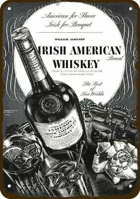 1937 JAMESON IRISH AMERICAN Whiskey Vintage Appearance Replica Metal Sign