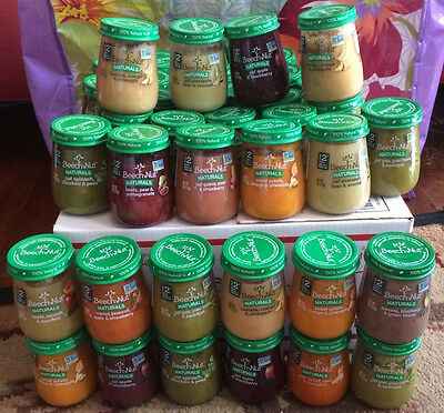 $74.36 Beech Nut Naturals NON GMO baby food 4 oz stage 2 and 3 lot 44 pieces
