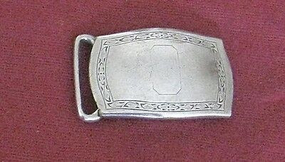 Vintage Hickok Silver Plate Belt Buckle Art Deco Good Condition