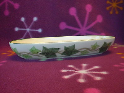 Franciscan Earthenware Ivy Pattern Relish/ Celery/ Pickle Dish EUC