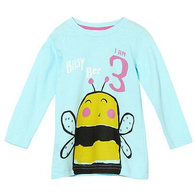 2015 New Little Maven Summer Baby Girl Children Bee Green Cotton Long Sleeve T-s