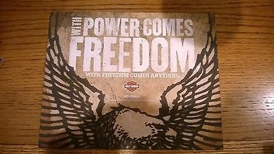 2012 Harley Davidson Model Sales Brochure Mint Shape With Power Comes Freedom