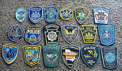PENNSYLVANIA Law Enforcement Patches - LOT of 18   (Police/Sheriff/Corrections)