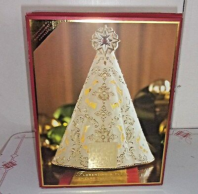 2003 MIB Lenox Florentine Jeweled & Pearl Musical Lighted Christmas Tree