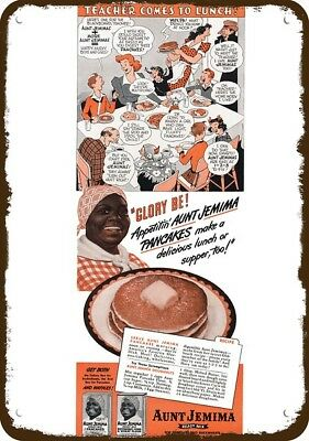 1943 AUNT JEMIMA Vintage Look Replica Metal Sign - RACIST DIALECT - GLORY BE!
