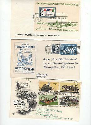 US  fdc's and dedication covers 1960 period