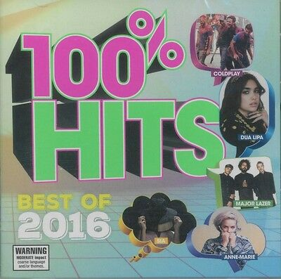 100% Hits Best Of 2016 - Various Artists CD *NEW* 2016