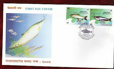 BANGLADESH STAMPS- Fish Fortnight, 2002  FDC