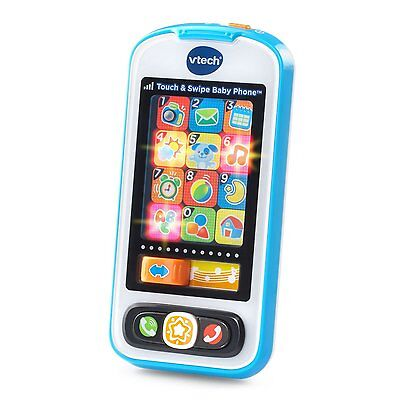 VTech Educational Baby, Toddler Touch and Swipe Musical Toy Cell Phone (Blue)