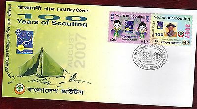 BANGLADESH STAMPS- Centenary of Scouting, 2007  FDC