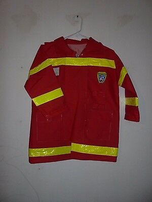 Halloween costume - red fireman's jacket, size large (see measurements)