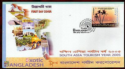 BANGLADESH STAMPS- South Asia Tourism Year, 2005  FDC