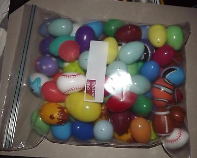 Assorted Plastic Easter Eggs...over 50..
