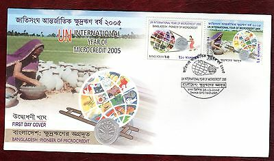 BANGLADESH STAMPS- Microcredit Year, 2005  FDC