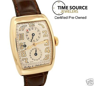 Dubey & Schaldenbrand Aerodyn Duo Dual Time 18K Yellow Gold Automatic B&P Watch