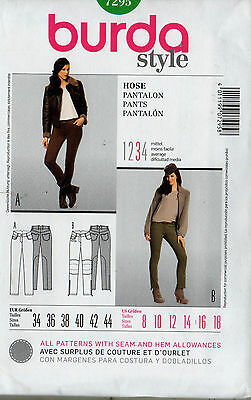 Sewing Pattern Burda 7295 Womens Pants Sz 8-18 Uncut