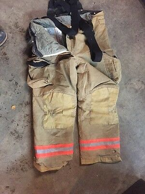 Firefighter's Bunker Gear (pants)  (40L) Insulated With Suspenders - Used