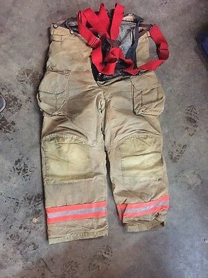 Firefighter's Bunker Gear (pants)  (38L) Insulated With Suspenders - Used