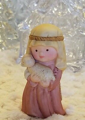 Heavenly Blessings Nativity SHEPHERD BOY by Avon Bisque Porcelain 1986
