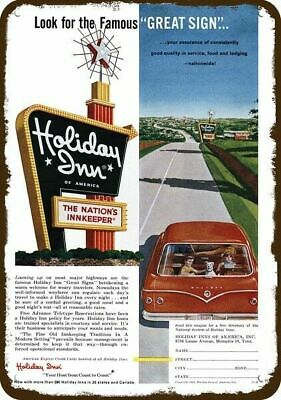 1962 HOLIDAY INN HOTEL Vintage Appearance Replica Metal Sign