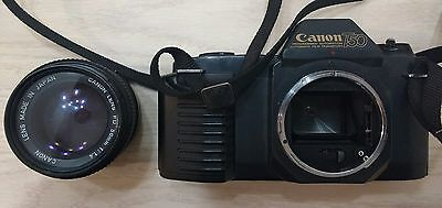 Canon T50 film camera with Canon FD 50mm 1:1.4 Lens