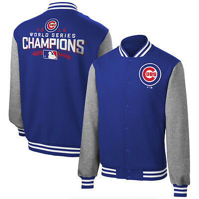 Chicago Cubs MENS 2016 World Series Champions Cardigan Sweatshirt Jacket Coat