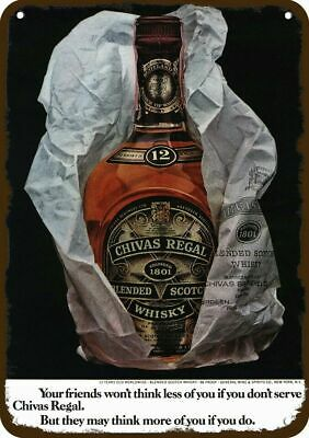 1971 CHIVAS REGAL Whisky Vintage Look REPLICA METAL SIGN - NOT ACTUAL WHISKY!