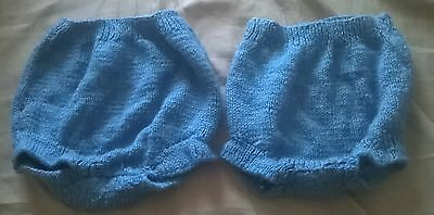 Knitted nappy covers x 2, size medium