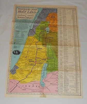 Map Pilgrim's Map of the Holy Land Journeys & Deeds Of Jesus Christ