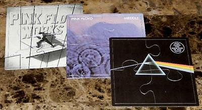 PINK FLOYD rare (SET OF 3) EARLY 80's PROMOTIONAL PUZZLES dark side of the moon