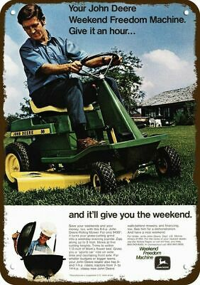 1971 JOHN DEERE MODEL 56 RIDING LAWN MOWER Vintage Look REPLICA METAL SIGN