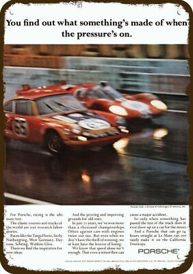 1971 PORSCHE RACE CAR LEMANS TARGA FLORIO Vintage Look Replica Metal Sign