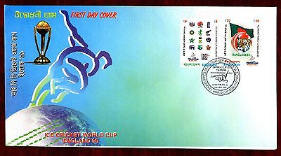 BANGLADESH STAMPS- Cricket World Cup in England,  1999 FDC