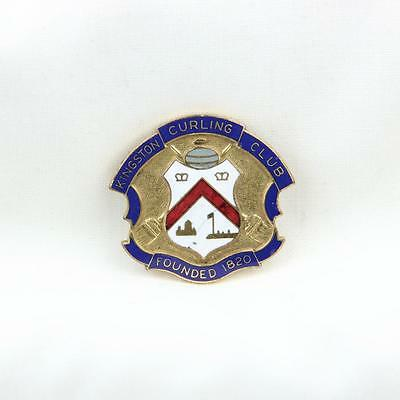 VTG Kingston Curling Club Hat Badge Ontatio Canada Pin Founded 1820