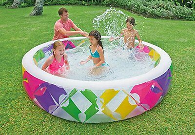 Intex Inflatable Kids 2.29cm Swim Centre Pinwheel Pool