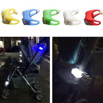 New Silicone Buggy Stroller Pram Lights Buggy Lights LED Flash Lamp Security