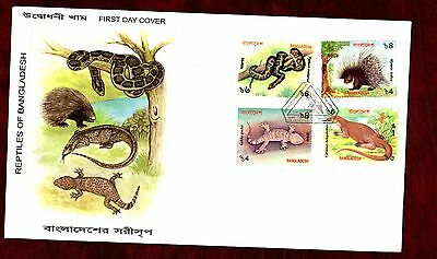 BANGLADESH STAMPS- Native Fauna  2000 FDC