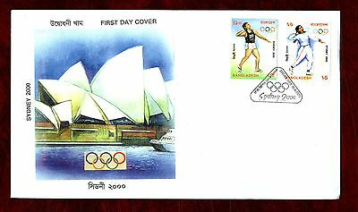 BANGLADESH STAMPS- Sydney Olympics  2000 FDC