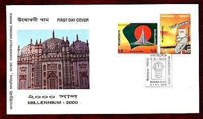 BANGLADESH STAMPS- New Millenium  2000 FDC
