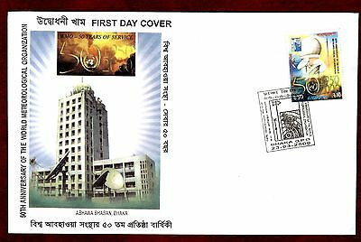 BANGLADESH STAMPS- World Meteorological Organization  2000 FDC