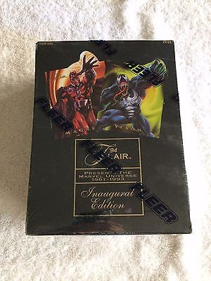 1994 Flair Marvel Universe Inaugural Edition 24 Pack Factory Sealed Box!