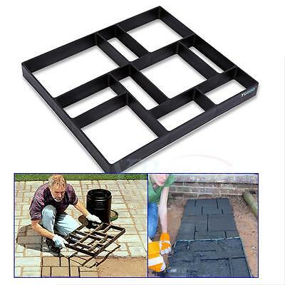 10 Grid DIY Plastic Garden Paving Mold Road Cement Concrete Steeping Stone Mould