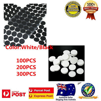 """Self Adhesive Coins Dots Hook & Loop Scratch Dots White/Black 20MM/0.7"""""""